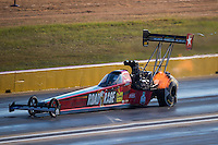 Oct 15, 2016; Ennis, TX, USA; NHRA top fuel driver Kebin Kinsley during qualifying for the Fall Nationals at Texas Motorplex. Mandatory Credit: Mark J. Rebilas-USA TODAY Sports