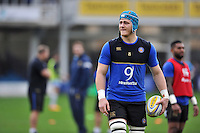David Denton of Bath Rugby looks on during the pre-match warm-up. Aviva Premiership match, between Bath Rugby and Worcester Warriors on December 27, 2015 at the Recreation Ground in Bath, England. Photo by: Patrick Khachfe / Onside Images