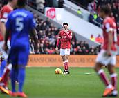 4th November 2017, Ashton Gate, Bristol, England; EFL Championship football, Bristol City versus Cardiff City; Josh Brownhill of Bristol City prepares to take a free kick