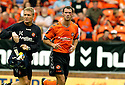 30/07/2006        Copyright Pic: James Stewart.File Name : sct_jspa19_falkirk_v_dundee_utd.DUNDEE UTD'S DAVID MCCRACKEN GOES OFF FOR TREATMENT TO HIS EYE.....Payments to :.James Stewart Photo Agency 19 Carronlea Drive, Falkirk. FK2 8DN      Vat Reg No. 607 6932 25.Office     : +44 (0)1324 570906     .Mobile   : +44 (0)7721 416997.Fax         : +44 (0)1324 570906.E-mail  :  jim@jspa.co.uk.If you require further information then contact Jim Stewart on any of the numbers above.........