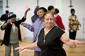 Latin Dance taster session during an Open day at the Stowe Centre organised by the Open Age project for the over-50s.