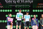 Team Sky lead the team classification at the end of Stage 15 of the 2018 Giro d'Italia, running 156km from Tolmezzo to Sappada, Italy. 20th May 2018.<br /> Picture: LaPresse/Gian Mattia D'Alberto | Cyclefile<br /> <br /> <br /> All photos usage must carry mandatory copyright credit (&copy; Cyclefile | LaPresse/Gian Mattia D'Alberto)
