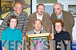 Artist Michael Hermann Ballinskelligs opens his art exhibition in Caherciveen library on Thursday front row l-r: Hazel Joy Caherciveen, Michael Hermann, Eva Hermann Ballinskelligs. Back row: Mortimer Moriarty, Anthony Tyler Caherciveen and Tom Horgan Waterville   Copyright Kerry's Eye 2008
