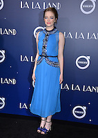 Actress Emma Stone at the Los Angeles premiere for &quot;La La Land&quot; at the regency Village Theatre, Westwood. <br /> December 6, 2016<br /> Picture: Paul Smith/Featureflash/SilverHub 0208 004 5359/ 07711 972644 Editors@silverhubmedia.com