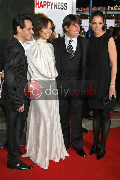 Marc Anthony and Jennifer Lopez with Tom Cruise and Katie Holmes<br />at the premiere of &quot;The Pursuit of Happyness&quot;. Mann Village Theatre, Westwood, CA. 12-07-06<br />Dave Edwards/DailyCeleb.com 818-249-4998