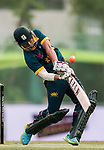 Aubrey Swanepoel of South Africa hits a shot during Day 2 of Hong Kong Cricket World Sixes 2017 Cup final match between Pakistan vs South Africa  at Kowloon Cricket Club on 29 October 2017, in Hong Kong, China. Photo by Yu Chun Christopher Wong / Power Sport Images