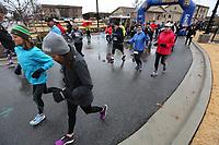 The Springdale Turkey Trot Thursday, November 28, 2019, organized by the Red Dog Club who supports the Springdale High School Bulldogs, featured a  5k, 10k and fun run. NWA Arkansas Democrat-Gazette/DAVID GOTTSCHALK