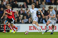 Lucy Bronze (Manchester City) of England Women on the ball during the Women's Friendly match between England Women and Austria Women at stadium:mk, Milton Keynes, England on 10 April 2017. Photo by PRiME Media Images / David Horn.