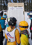LEAD, SD - JANUARY 31, 2016 -- Racers look at the scoreboard during the 2016 USSA Northern Division Ski Races at Terry Peak Ski Area near Lead, S.D. Sunday. (Photo by Richard Carlson/dakotapress.org)