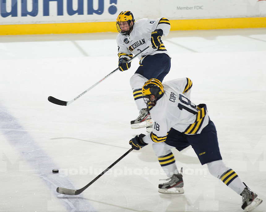 The University of Michigan ice hockey team lost to Notre Dame, 3-1, at Yost Ice Arena in Ann Arbor, Mich., on November 15, 2012.