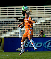 Saint Louis Athletica defender Tina Ellertson (8) and Sky Blue FC midfielder/forward Kacey White (20) during a WPS match at Anheuser Busch Soccer Park, in St. Louis, MO, July 22 2009. Athletica won the match 1-0.