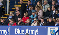 The Wycombe directors & Chairman watch the match unfold during the Sky Bet League 2 match between Portsmouth and Wycombe Wanderers at Fratton Park, Portsmouth, England on 23 April 2016. Photo by Andy Rowland.