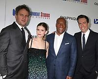 "LOS ANGELES - MAR 28:  Jason Clarke, Kate Mara, Bryon Allen, Ed Helms at the ""Chappaquiddick"" Premiere at Samuel Goldwyn Theater on March 28, 2018 in Beverly Hills, CA"