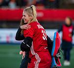 UTRECHT - keeper Alexandra Heerbaart (Ned) speelde haar eerste interland tijdens  de Pro League hockeywedstrijd wedstrijd , Nederland-China (6-0) .  COPYRIGHT  KOEN SUYK