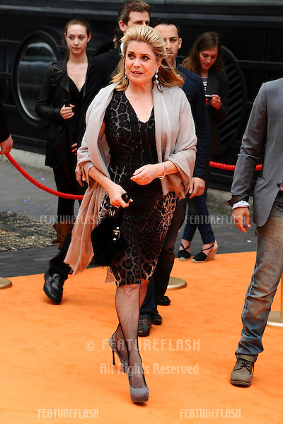 "Catherine Deneuve arrives for the screening of ""Potiche"" at the BFI, South Bank, London. 15/06/2011  Picture by: Steve Vas / Featureflash"