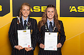 Girls Rowing finalists Courtney Sheehan and Alahna Walker. ASB College Sport Young Sportsperson of the Year Awards held at Eden Park, Auckland, on November 24th 2011.
