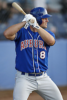 June 23, 2009:  Brad Glenn of the Auburn Doubledays during a game at Russell Diethrick Park in Jamestown, NY.  The Doubledays are the NY-Penn League Short-Season A affiliate of the Toronto Blue Jays.  Photo by:  Mike Janes/Four Seam Images