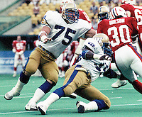 Stan Mikawos Winnipeg Blue Bombers. Copyright photograph Scott Grant