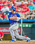 28 February 2019: New York Mets infielder Danny Espinosa at bat during a Spring Training game against the St. Louis Cardinals at Roger Dean Stadium in Jupiter, Florida. The Mets defeated the Cardinals 3-2 in Grapefruit League play. Mandatory Credit: Ed Wolfstein Photo *** RAW (NEF) Image File Available ***