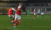 Fleetwood Town's Danny Andrew scores his sides 2nd goal<br /> <br /> Photographer Dave Howarth/CameraSport<br /> <br /> Leasing.com Trophy Northern Section Round Three - Fleetwood Town v Accrington Stanley - Tuesday 7th January 2020 - Highbury Stadium - Fleetwood<br />  <br /> World Copyright © 2018 CameraSport. All rights reserved. 43 Linden Ave. Countesthorpe. Leicester. England. LE8 5PG - Tel: +44 (0) 116 277 4147 - admin@camerasport.com - www.camerasport.com
