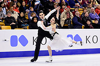Wednesday, March 30, 2016: Anna Cappellini and Luca Lanotte (ITA) skate in the short dance event at  the International Skating Union World Championship held at TD Garden, in Boston, Massachusetts. Eric Canha/CSM
