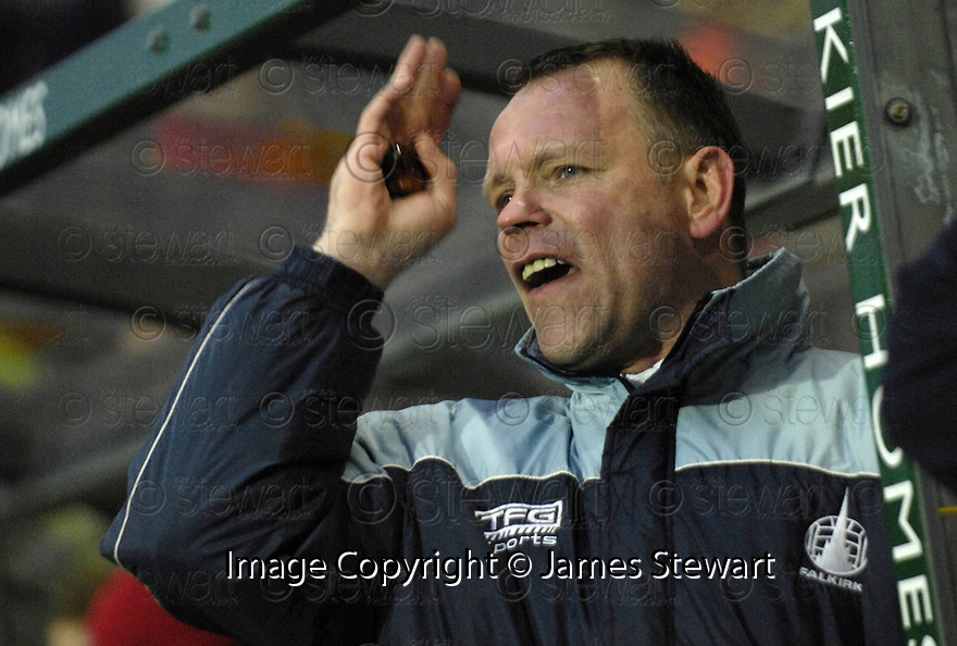 10/02/2007       Copyright Pic: James Stewart.File Name : sct_jspa17_falkirk_v_motherwell.FALKIRK MANAGER JOHN HUGHES WATCHES HIS TEAM SNATCH DEFEAT FROM THE JAWS OF VICTORY....James Stewart Photo Agency 19 Carronlea Drive, Falkirk. FK2 8DN      Vat Reg No. 607 6932 25.Office     : +44 (0)1324 570906     .Mobile   : +44 (0)7721 416997.Fax         : +44 (0)1324 570906.E-mail  :  jim@jspa.co.uk.If you require further information then contact Jim Stewart on any of the numbers above.........