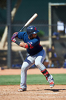 Cleveland Indians Gianpaul Gonzalez (6) during an Instructional League game against the Los Angeles Dodgers on October 10, 2016 at the Camelback Ranch Complex in Glendale, Arizona.  (Mike Janes/Four Seam Images)