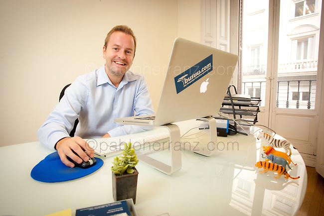 Bernhard Niesner at BUSUU offices in Madrid.