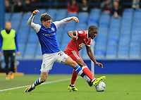 Adam Reach of Sheffield Wednesday and Tendayi Darikwa of Nottingham Forest battle the ball during the Sky Bet Championship match between Sheffield Wednesday and Nottingham Forest at Hillsborough, Sheffield, England on 9 September 2017. Photo by Leila Coker / PRiME Media Images.