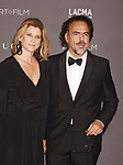 LOS ANGELES, CA - NOVEMBER 04: Maria Eladia Hagerman (L) and director Alejandro Gonzalez Inarritu attend the 2017 LACMA Art + Film Gala Honoring Mark Bradford and George Lucas presented by Gucci at LACMA on November 4, 2017 in Los Angeles, California.