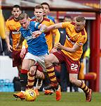 31.3.2018: Motherwell v Rangers: <br /> Jason Cummings and Allan Campbell