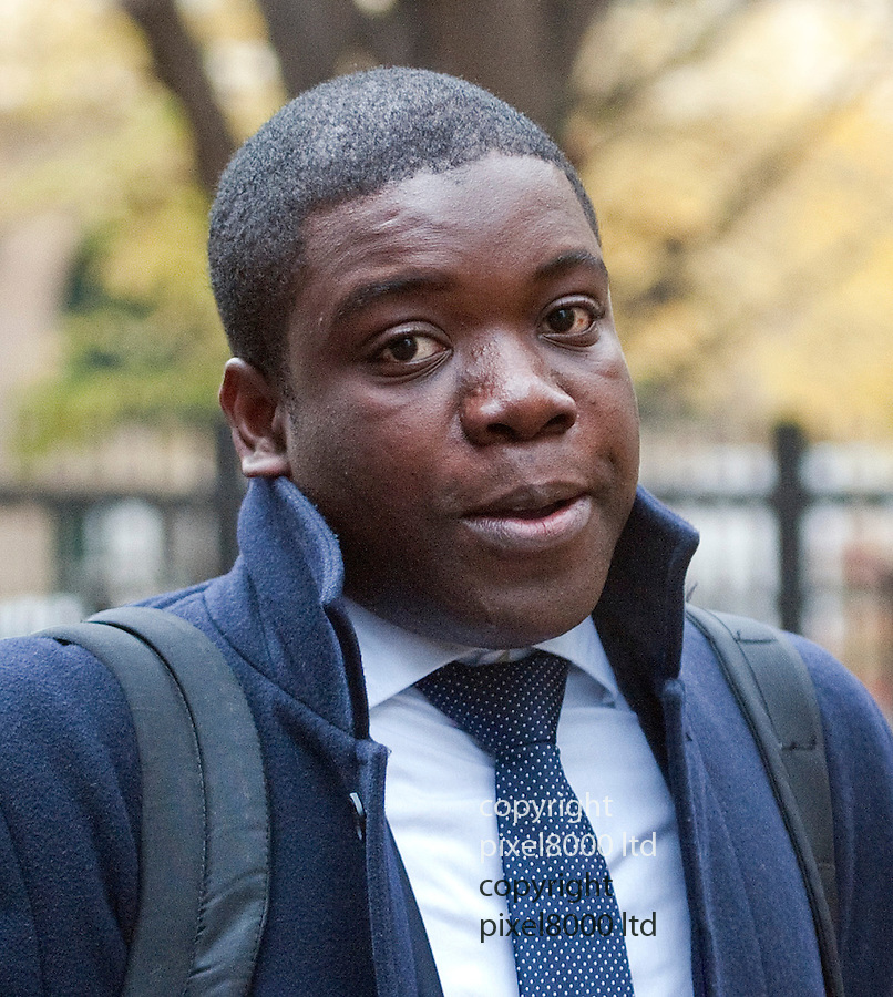 Kweku (aka Kwaku) Adoboli arrives at Southwark Crown Court today  where the jury is deliberating into his case...Former UBS trader is on fraud charges running into  billions of pounds. Mr Adoboli who is accused of ?fraudulently gambling? away $2.3bn from the Swiss bank. Mr Adoboli denies two charges of false accounting and two charges of fraud by abuse of position.....Pic by Gavin Rodgers/Pixel 8000 Ltd   25.9.12