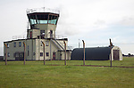Control tower at former US Air Force Bentwaters base, Rendlesham, Suffolk, England