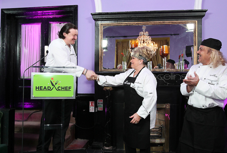 21/06/'11 Chef Conrad Gallagher of TV3's Celebrity Head Chef series pictured with contestants, Adele King and Wagner in his  'Dining Room' Restaurant...NO REPRODUCTION FEE PIC...Picture Colin Keegan, Collins, Dublin.