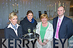 Karen Anderson offers champagne to Pauline Doherty, Mary O'Connor and Richard Halpin at the Killarney Oaks Hotel wedding fair on Saturday