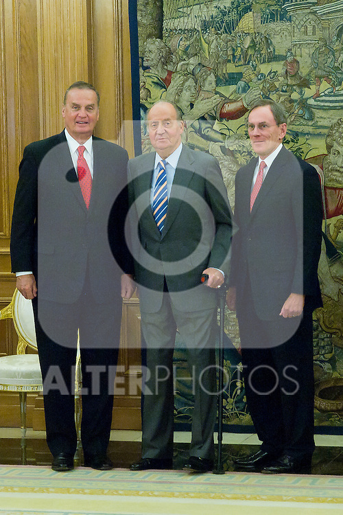 14.06.2012. King Juan Carlos of Spain attens audience at the Palace of La Zarzuela Mr. Jay L. Johnson, president of General Dynamics Corporation and its directors. In the image Juan Carlos of Spain (Alterphotos/Marta Gonzalez)