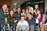 1289-1292.---------.Charity.-------.Hairdresser Gretta Turner shaved off Mike McCarthy's fine head of hair in Hennessys bar ,Castle St,Tralee last Saturday night to help raise much needed funds to bring his wifes brother home,35 yr old Sean O'Brien,from Doon North,Tralee,who was seriuosly injured in a car cash 3 mts ago while living in the US.