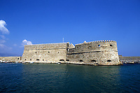 Picturesque Fort at port in Heraklion Greece