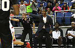 Word of Life Head Coach Percy Lockett works the sidelines of the NIAA Division IV state basketball championship against Whittell in Reno, Nev. on Saturday, Feb. 27, 2016. Whittell won 53-48. Cathleen Allison/Las Vegas Review-Journal