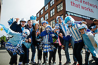 Seattle, WA - Tuesday June 14, 2016: Fans prior to a Copa America Centenario Group D match between Argentina (ARG) and Bolivia (BOL) at CenturyLink Field