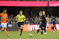 San Jose, CA - Saturday September 16, 2017: Jackson Yueill during a Major League Soccer (MLS) match between the San Jose Earthquakes and the Houston Dynamo at Avaya Stadium.
