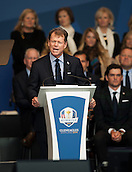 25.09.2014. Gleneagles, Auchterarder, Perthshire, Scotland.  The Ryder Cup.  Tom Watson USA Team Captain at the opening ceremony.