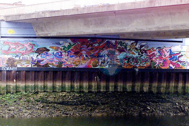 Mural on the Bridge of Peace..Picture: Arthur Carron/Newsfile