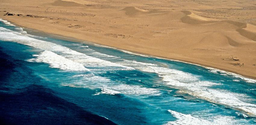 Aerial over coastline in Australia's west coast