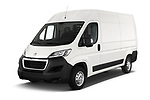2018 Peugeot Boxer Pro 3 Door Cargo Van angular front stock photos of front three quarter view
