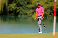 Tony Finau (USA) on the 2nd fairway during the 3rd round at the WGC HSBC Champions 2018, Sheshan Golf CLub, Shanghai, China. 27/10/2018.<br /> Picture Fran Caffrey / Golffile.ie<br /> <br /> All photo usage must carry mandatory copyright credit (&copy; Golffile | Fran Caffrey)