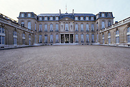 Paris, France, Elysee Palace, Summer 1980. View of the main front courtyard.