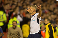 Steve Morison of Millwall celebrates his goal during the Sky Bet Championship match between Nottingham Forest and Millwall at the City Ground, Nottingham, England on 4 August 2017. Photo by James Williamson / PRiME Media Images.