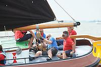 ZEILEN: LEMMER: Lemster baai, 31-07-2014, SKS skûtsjesilen, skûtsje Doarp Grou, schipper Douwe Azn. Visser, ©foto Martin de Jong