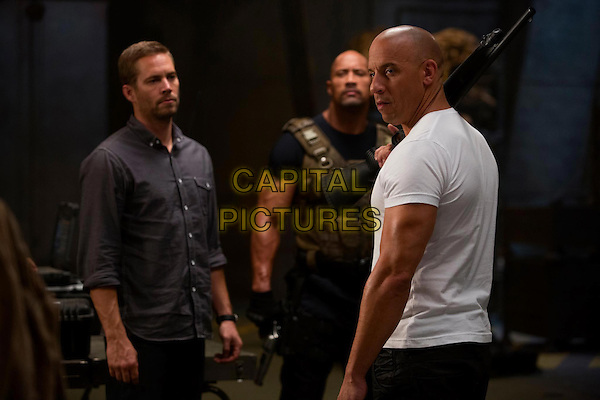 "Paul Walker, Dwayne ""The Rock"" Johnson & Vin Diesel.in The Fast and the Furious 6 (2013) .*Filmstill - Editorial Use Only*.CAP/NFS.Supplied by Capital Pictures."